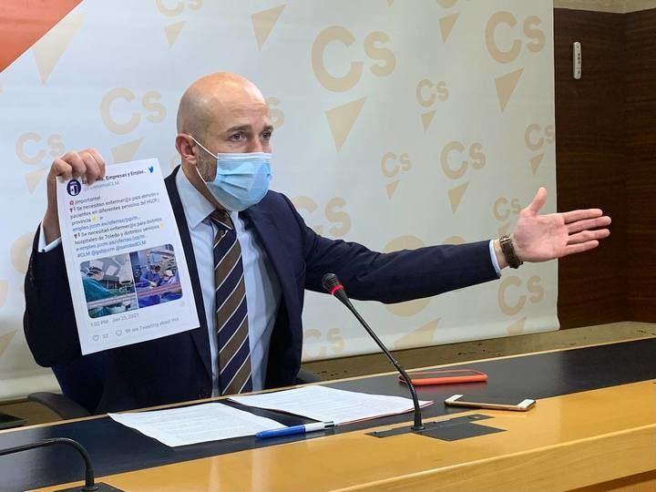 Ciudadanos acusa a García-Page de improvisar ante la escasez de personal sanitario en plena tercera ola