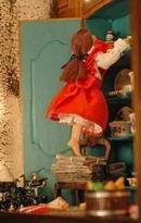 Casita de muñecas expuesta en el Museo de Miniaturas del Profesor Max en Brihuega.