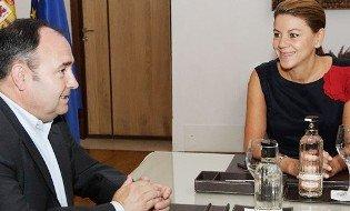 Cospedal se reúne con Pedrosa por primera vez desde que es presidenta de la Junta