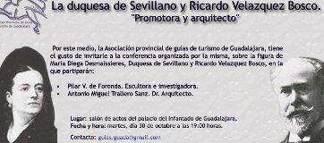 """Conferencia cultural """"La duquesa de Sevillano y Ricardo Velásquez Bosco, promotora y arquitecto""""."""
