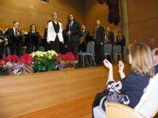 La presidenta de la Diputación presenció el concierto de Navidad de la Banda de Música