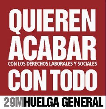 Casi 700.000 trabajadores están llamados a la huelga general este jueves 29 en Castilla La Mancha. En Guadalajara hay convocada una manifestación a las 19 horas del Palacio del Infantado a la Subdelegación del Gobierno