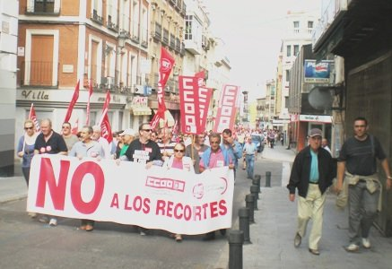Quince mil personas en Castilla La Mancha y mil quinientas en Guadalajara salen a la calle contra los presupuestos del gobierno de Rajoy