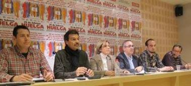 """Los sindicatos auguran el """"éxito"""" de la huelga del 29 de febrero que hará """"temblar"""" los """"cimientos"""" de la Junta"""