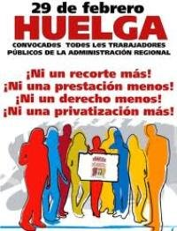 9.000 empleados públicos en Guadalajara y 70.000 en Castilla La Mancha están convocados este miércoles a la huelga contra los recortes de la Junta