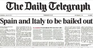 Según el Daily Telegraph, Bruselas rescatará a España e Italia por 750.000 millones de euros