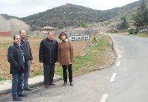 La Diputación mejora el firme de la carretera que une Malacuera con Olmeda del Extremo