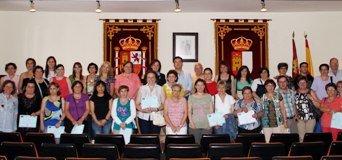 Trillo acoge la clausura de la formación del personal de Ayuda a Domicilio del área de Brihuega