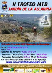 El domingo 4 de agosto se celebra en Brihuega el II Trofeo MTB Jardín de la Alcarria