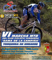 """El Club Ciclista Yunquera organiza su VI Marcha MTB """"Dama de la Campiña"""""""