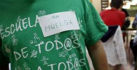 La huelga registra disparidad de cifras entre el 15 y 50% del profesorado