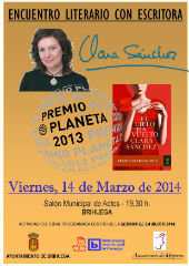 Este viernes, encuentro con la escritora Clara Sánchez en Brihuega