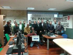 IU se reúne con los conductores de la Junta encerrados en Bienestar Social