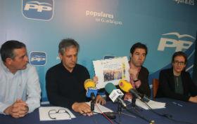 Robisco y Curto denuncian que Bellido es el director de orquesta de las arbitrariedades socialistas en la planta de residuos voluminosos de Yunquera y en el Centro de Salud de Azuqueca