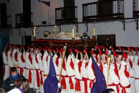 Las Hermandades de la Soledad y Virgen de los Dolores en Yunquera de Henares apuran los últimos ensayos para la procesión del Santo Entierro