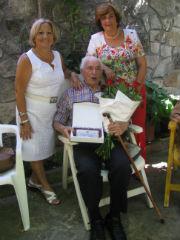 Agustín Tamayo, el viejo jardinero de La Alameda seguntina, cumplió cien años