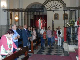 La Presidenta de la Diputación asiste en Jadraque a la procesión que da comienzo a las Fiestas del Cristo