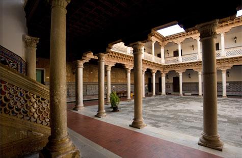 Los distintos usos del edificio del Palacio de Antonio de Mendoza, detalle monumental de noviembre