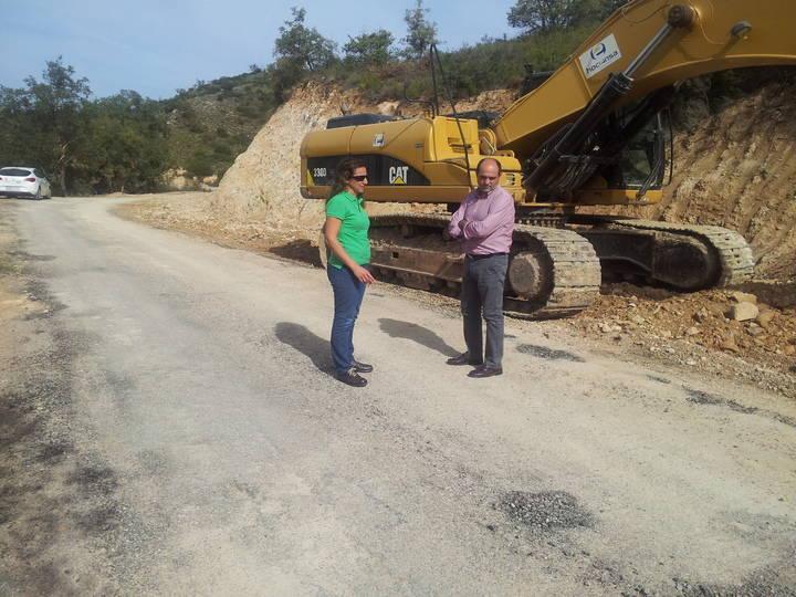 Avanzan a buen ritmo las obras en las carreteras de Taragudo y Torrebeleña
