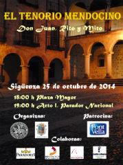 Las calles de Sigüenza, escenario del Tenorio Mendocino este sábado