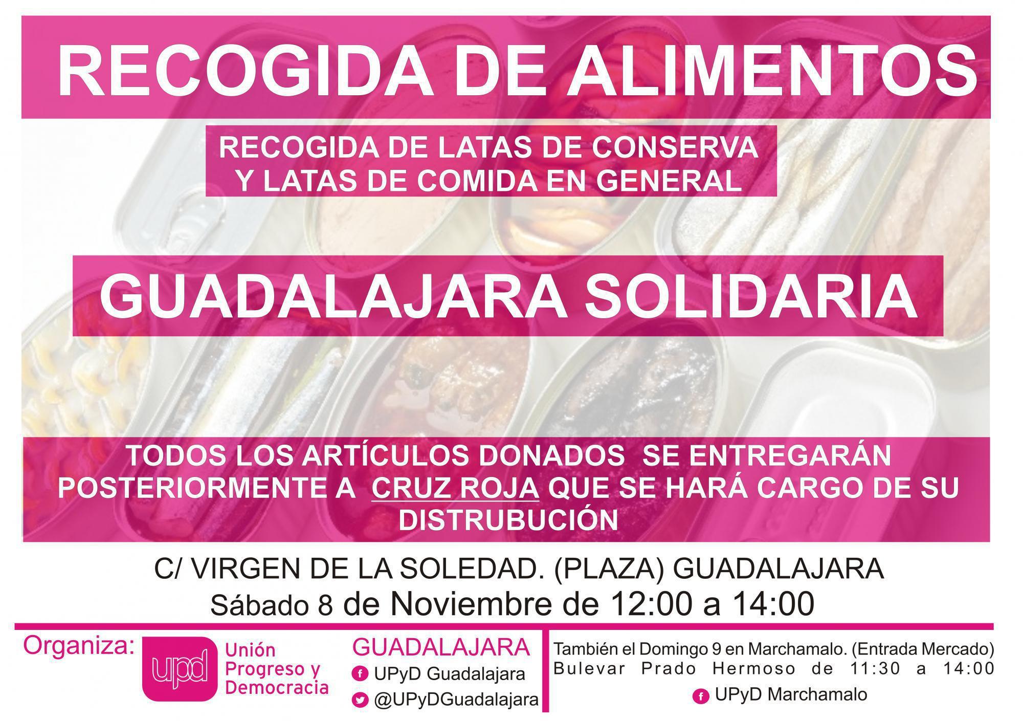 UPyD organiza la campaña de recogida Guadalajara Solidaria
