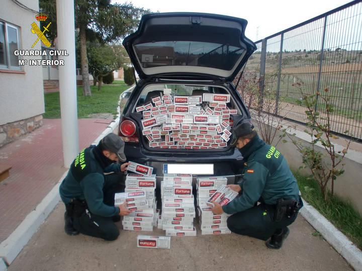 La Guardia Civil interviene en Alcolea del Pinar 3.100 cajetillas de tabaco