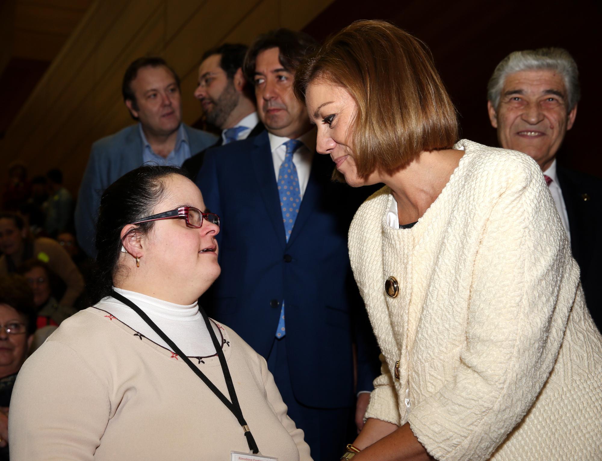 Cospedal sensibilizada con las Familias de Personas con Discapacidad en Castilla La Mancha