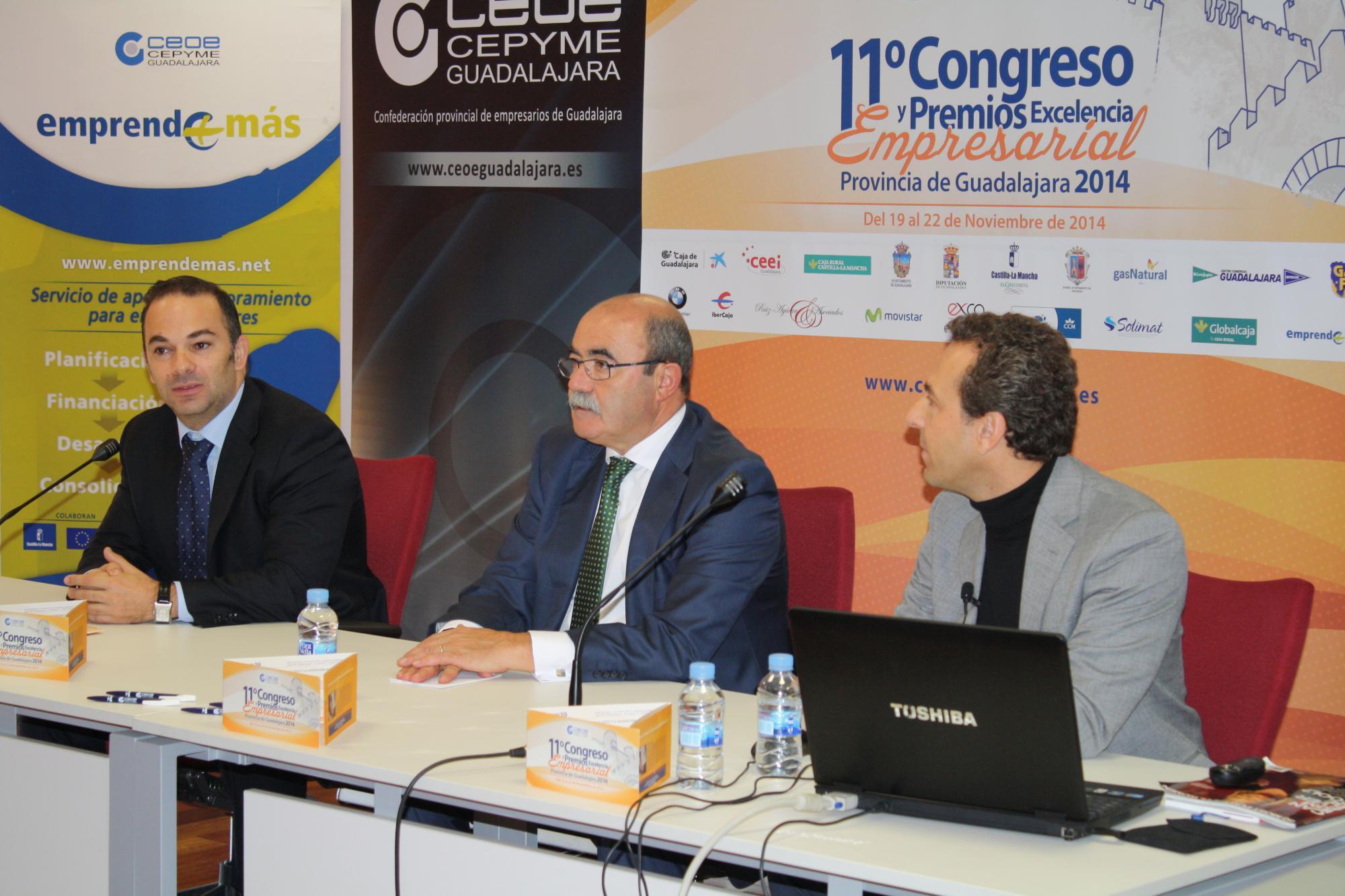 Jaime Carnicero participa en la apertura de las jornadas de formación por el XI Congreso provincial de CEOE-Cepyme de Guadalajara