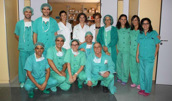 El hospital de Alcázar realiza el segundo trasplante de saco cristaliniano de cadáver que se hace en el mundo