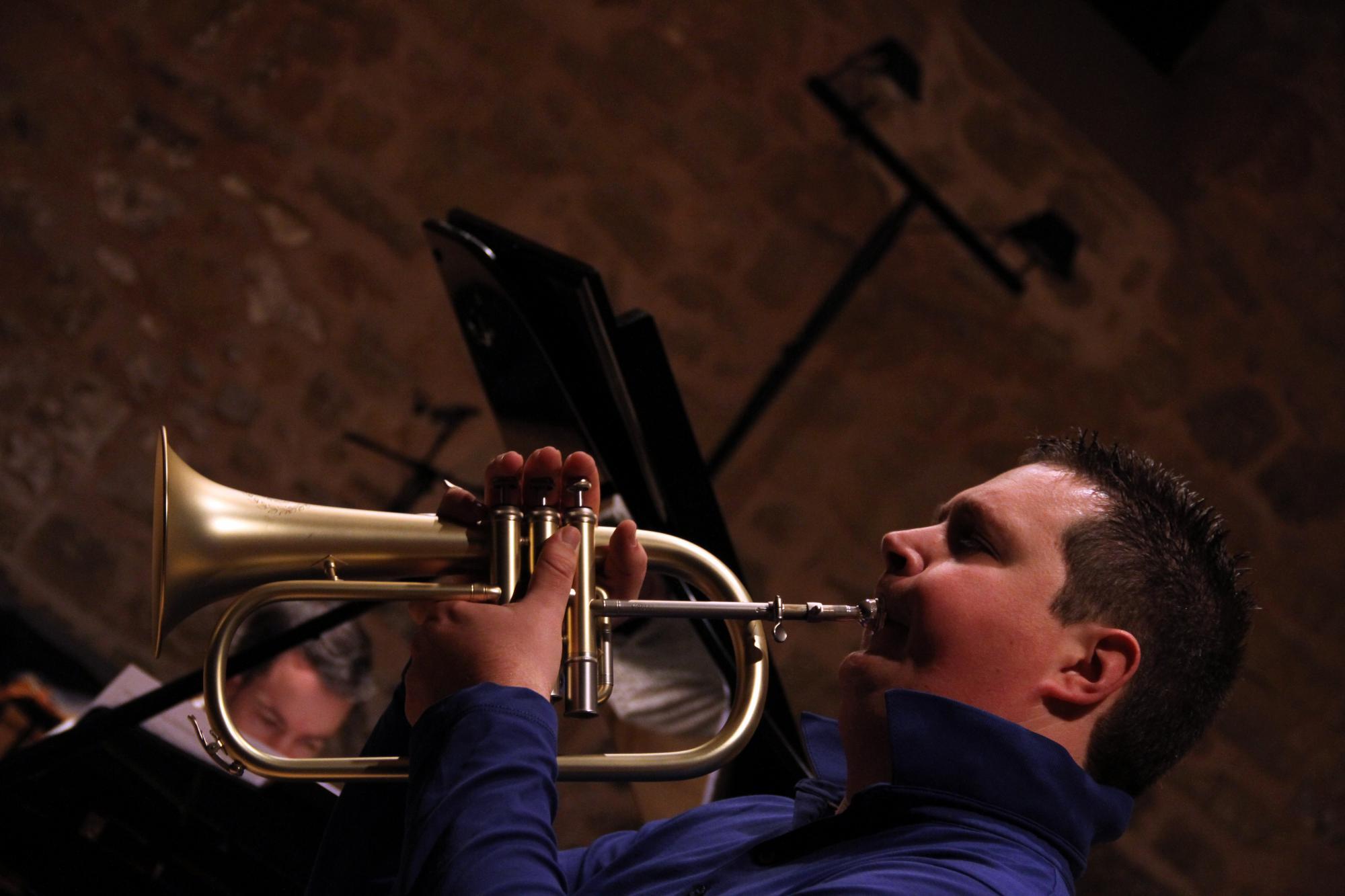 Trompeta y piano, brillante ensemble para cerrar Musigüenza 2014