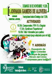 El domingo 30 de noviembre a las 16.30 horas tendrá lugar la I Jornada Gamers de Alovera en el Centro Joven