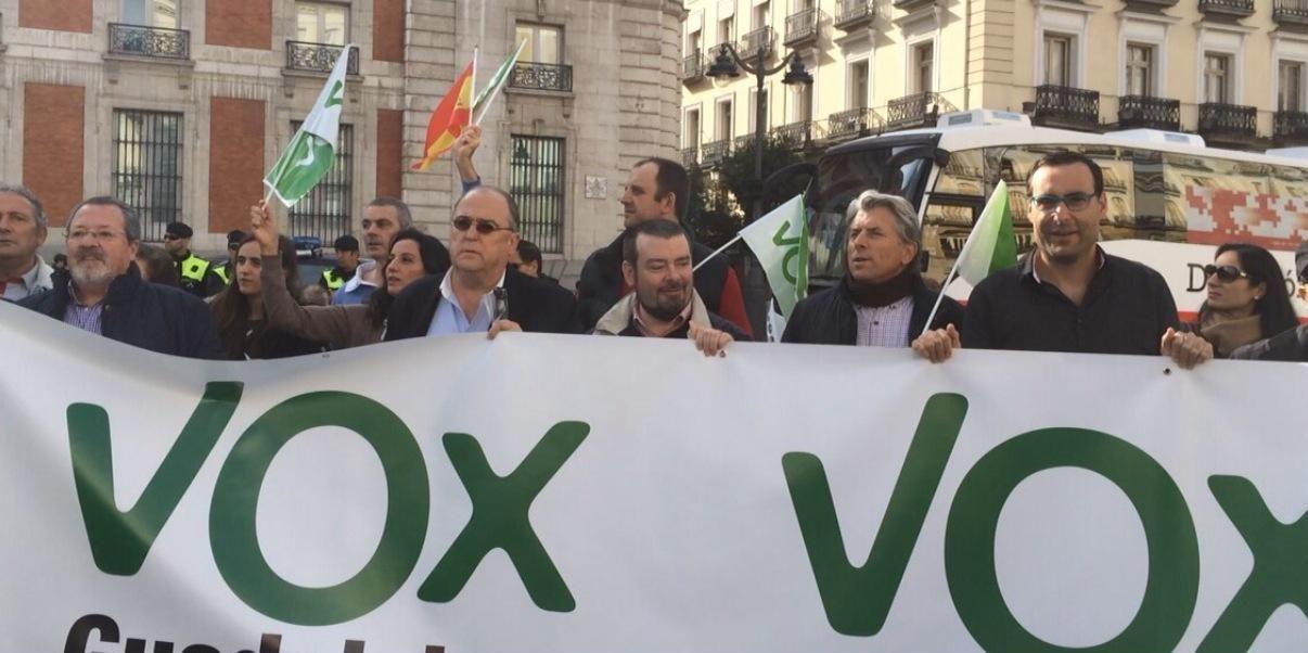 Vox Guadalajara apoya en Madrid la unidad de España