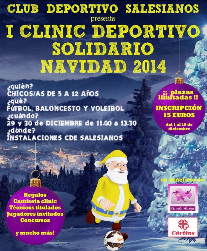"""CDE Salesianos organiza el """"I Clinic deportivo solidario"""""""