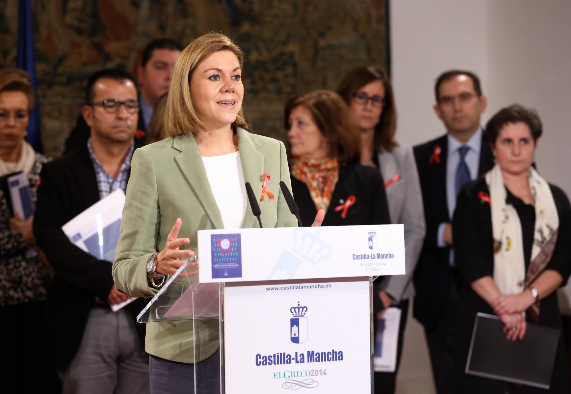 Cospedal presenta para Castilla La Mancha un completo Plan de 76,6 millones de euros contra el Sida