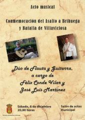 Dúo de Flauta y Guitarra para conmemorar el Asalto a Brihuega y Batalla de Villaviciosa