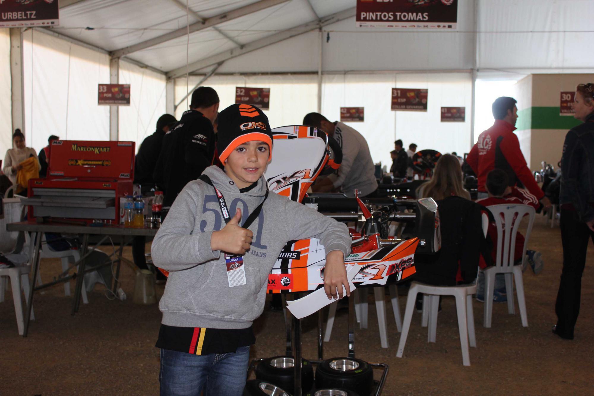 El cabanillero Tommy Pintos logra con tan solo 8 años el cuarto puesto en el Mundial de Karting