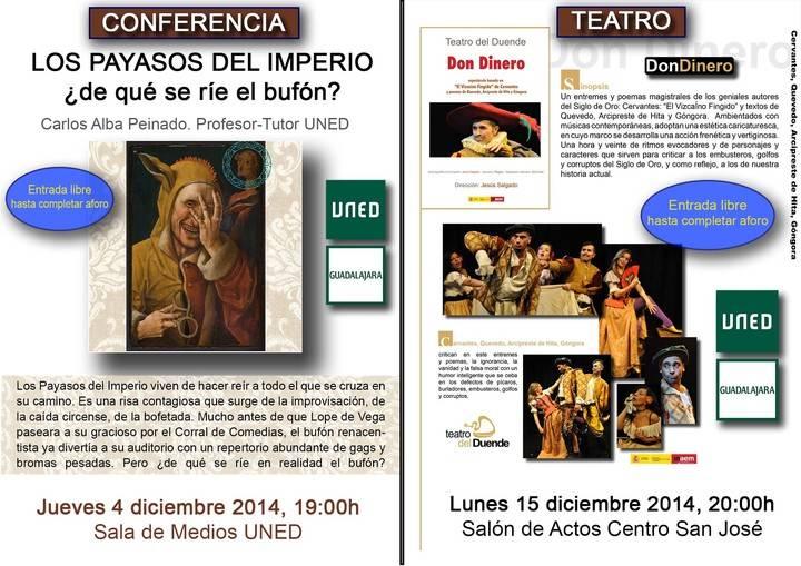 La UNED se aproxima a la literatura del Siglo de Oro a través de una conferencia y una obra de teatro