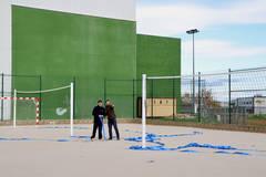 Concluyen los trabajos del campo de deportes playa del complejo San Miguel de Azuqueca de Henares
