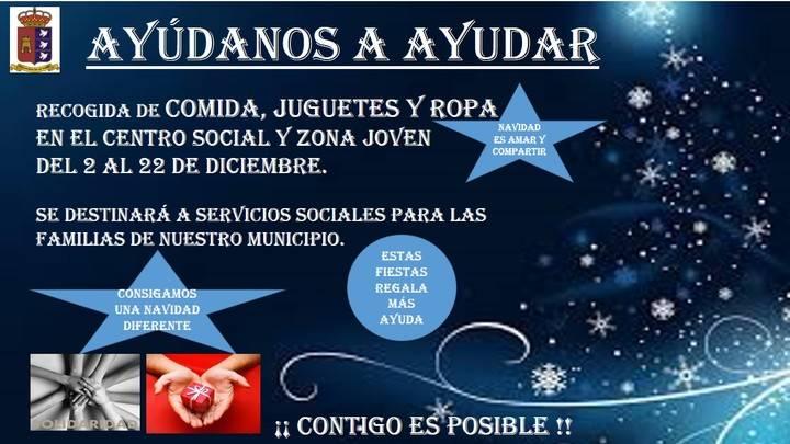 Por cuarto año consecutivo, el Ayuntamiento de Villanueva de la Torre busca ayudar a quienes más lo necesitan con sus Navidades Solidarias
