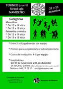 Hasta el 16 de diciembre, se admiten inscripciones en el Torneo Navideño de Fútbol Sala para jóvenes de Azuqueca de Henares