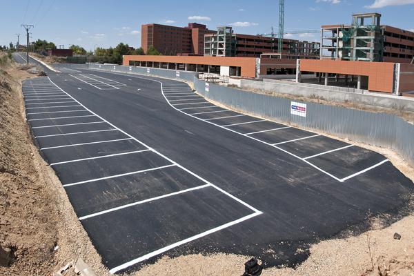 Comienza la nueva fase de las obras del aparcamiento en el Hospital de Guadalajara