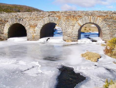 Puente sobre Río de la Hoz (Cantalojas) Foto : Pedro Molinero