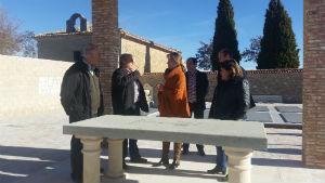 La presidenta de la Diputación comprueba el resultado de las obras ejecutadas en Solanillos del Extremo