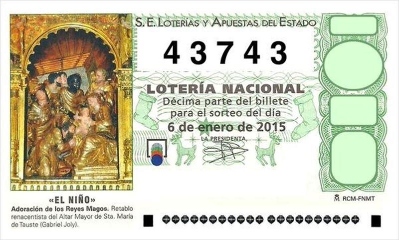 Parte del segundo premio de El Niño, vendido en Albacete