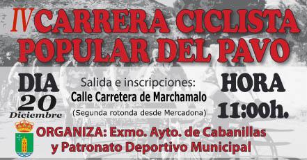 La Carrera Ciclista del Pavo de Cabanillas del Campo celebra este sábado su cuarta edición poniendo a prueba la resistencia de corredores de 0 a 99 años