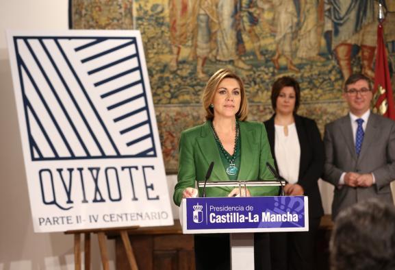 """Cospedal celebra que """"nuestro personaje más universal"""" acercará Castilla-La Mancha al mundo para crear riqueza"""