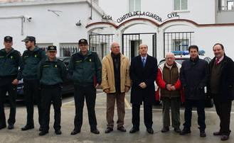 El subdelegado del Gobierno visita el cuartel de la Guardia Civil en Sacedón