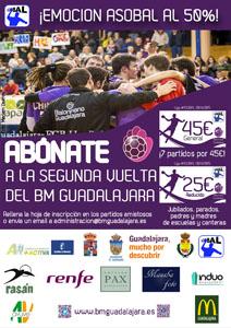 El BM Guadalajara pone a la venta los abonos de la segunda vuelta
