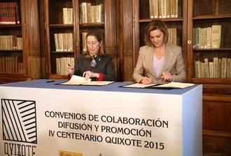 Cospedal anuncia que el Gobierno regional ha iniciado los trámites para declarar los 'Escenarios del Quijote' Bien de Interés Cultural