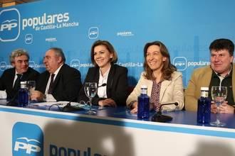 """Guarinos subraya que """"Cospedal se ha convertido en un referente tanto dentro como fuera de Castilla-La Mancha"""""""